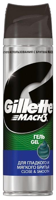 Гель для гладкого и мягкого бритья Mach3 Close & Smooth Gillette
