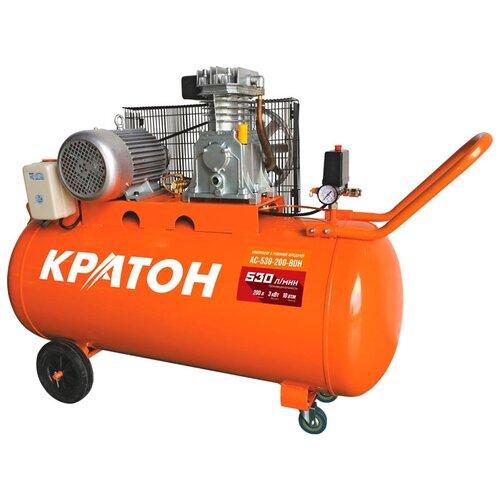 Фото - Компрессор масляный Кратон AC-530-200-BDH, 200 л, 3 кВт компрессор масляный fubag b5200b 200 ct4 200 л 3 квт