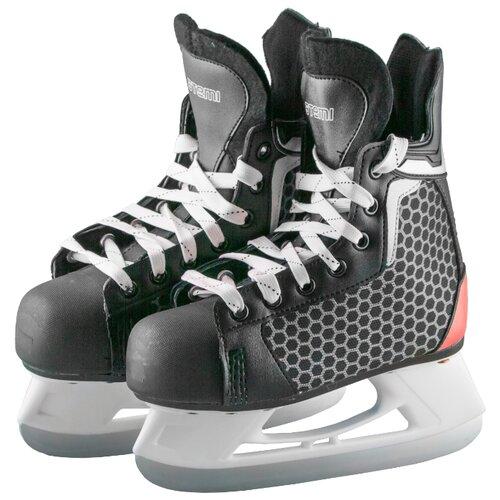 Хоккейные коньки ATEMI AHSK-17.03 Pulsar Red черный р. 41