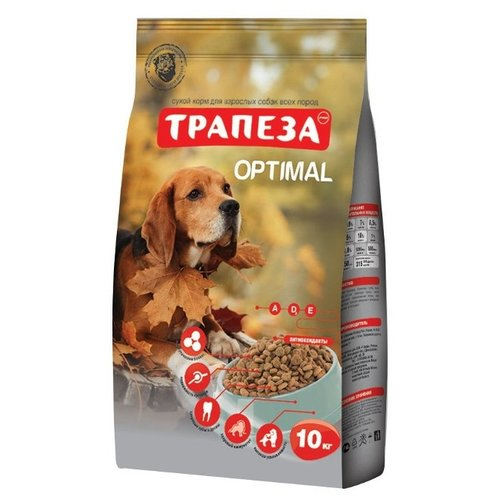 Корм для собак Трапеза (10 кг) Оптималь для взрослых собак, склонных к полноте авен гидранс оптималь риш