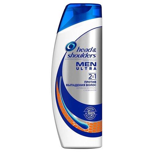 Head & Shoulders шампунь и бальзам-ополаскиватель Men Ultra против перхоти 2в1 Против выпадения волос 400 млШампуни<br>