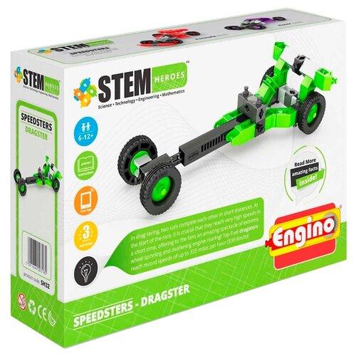Купить Конструктор ENGINO STEM Heroes SH32 Скоростные механизмы - Драгстер, Конструкторы
