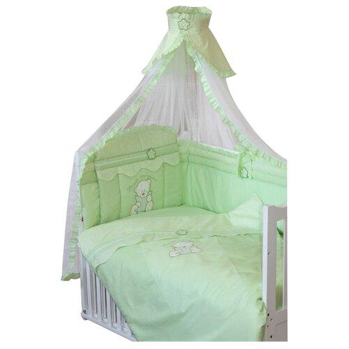 Купить Золотой Гусь комплект Сабина (7 предметов) зеленый, Постельное белье и комплекты
