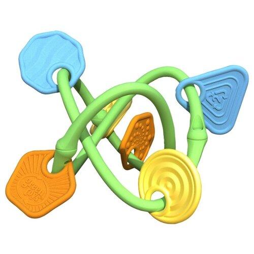 Прорезыватель-погремушка Green Toys Twist teecher прорезыватель погремушка happy baby flower twist разноцветный