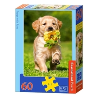 Пазл Castorland Puppy with Rose (B-06939) , элементов: 60 шт.