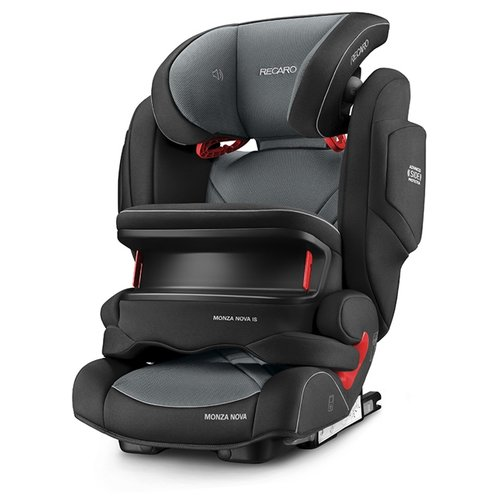 Автокресло группа 1/2/3 (9-36 кг) Recaro Monza Nova IS Seatfix, Carbon Black автокресло группа 1 2 3 9 36 кг recaro young sport hero carbon black