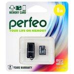 Карта памяти Perfeo microSDHC Class 10 UHS-I U1 + USB Reader