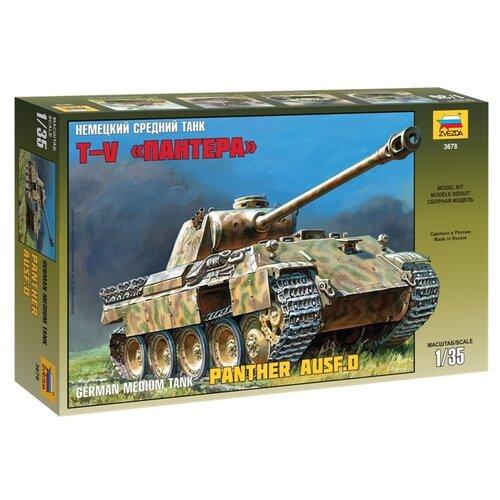 Сборная модель ZVEZDA Немецкий средний танк Т-V Пантера (3678) 1:35 танк звезда t v пантера 1 35