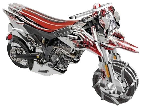 Пазл Pilotage 3D Мотоцикл 3 заводной (RC39703)