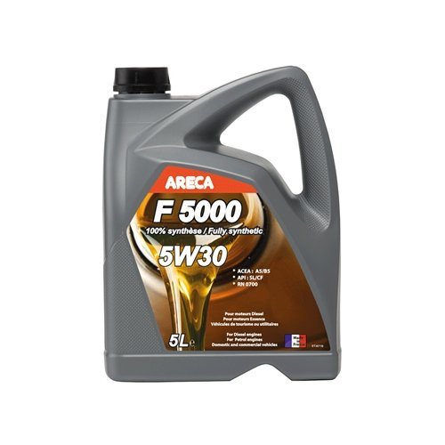 Синтетическое моторное масло Areca F5000 5W30 5 л