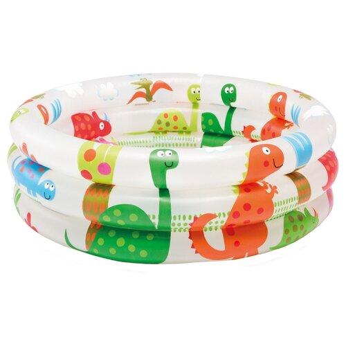 Детский бассейн Intex Dinosaur 3-Ring 57106 детский бассейн intex океан 56452