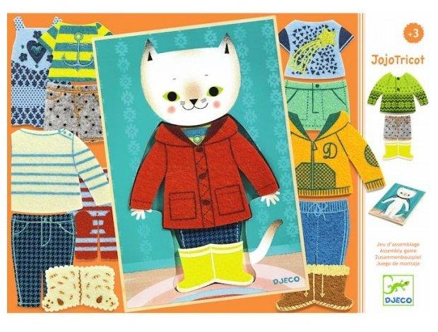 Рамка-вкладыш DJECO Одежда для Жожо (01696), 17 дет.