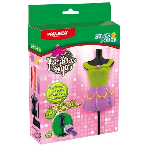 Масса для лепки PAULINDA Fashion Style зелено-фиолетовое платье (081482-8) зелено синее платье 44