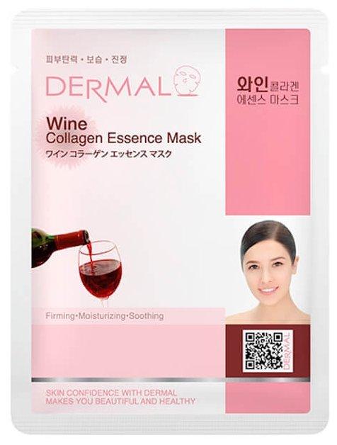 DERMAL тканевая маска с коллагеном и экстрактом красного вина