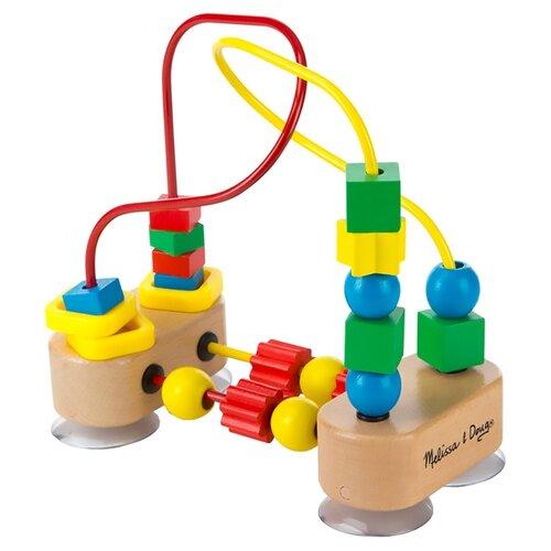 Купить Лабиринт Melissa & Doug с фигурами желтый/красный/голубой/зеленый, Развитие мелкой моторики