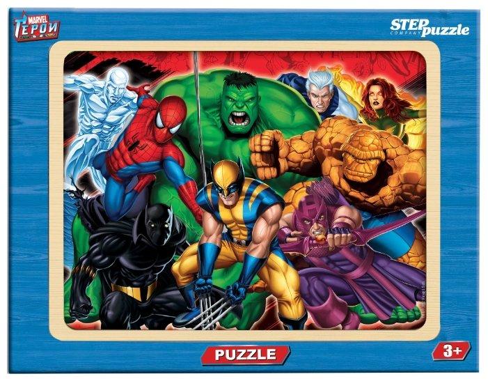 Рамка-вкладыш Step puzzle Герои Marvel (89126), 20 дет.