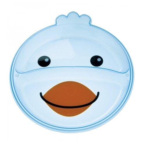 Купить Тарелка Canpol Babies Animals с разделением (74/005) голубой, Посуда