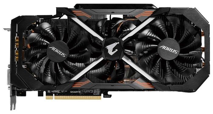 GIGABYTE Видеокарта GIGABYTE GeForce GTX 1080 Ti 1594MHz PCI-E 3.0 11264MB 11010MHz 352 bit DVI 3xHDMI HDCP Aorus