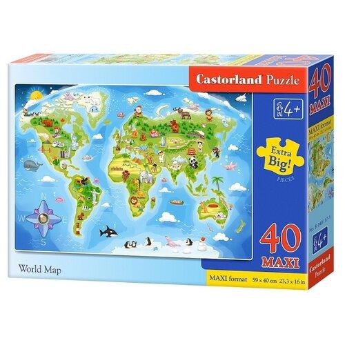 Купить Пазл Castorland World Map (B-040117), 40 дет., Пазлы