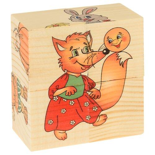 Купить Кубики-пазлы АНДАНТЕ Колобок Д502а, Детские кубики