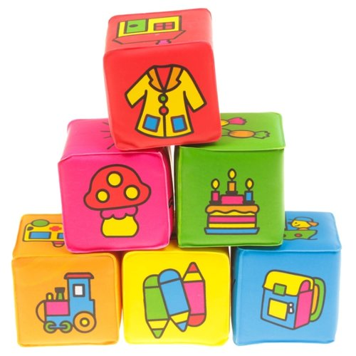 Купить Кубики Крошка Я Учим предметы 2598246, Детские кубики