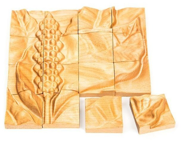 Рамка-вкладыш Томик Цветы Спатифиллум (155), 16 дет.