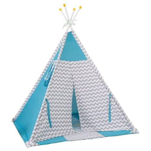 Купить Палатка Polini Зигзаг голубой, Игровые домики и палатки
