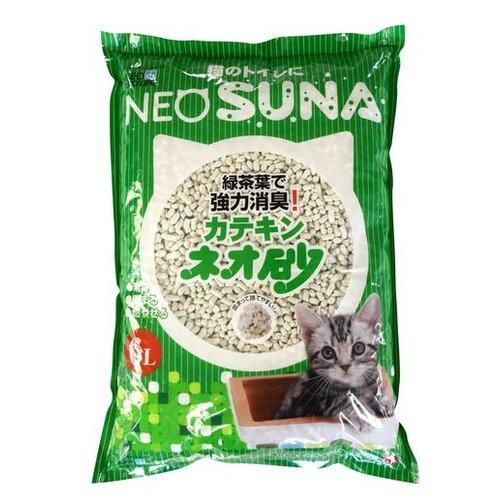 Фото - Комкующийся наполнитель NeoSuna с экстрактом зеленого чая, 6 л впитывающий наполнитель for cats с ароматом зеленого чая 4 л