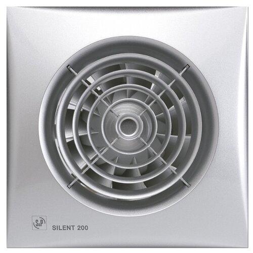 Вытяжной вентилятор Soler & Palau SILENT-200 CZ, silver 16 Вт вытяжной вентилятор soler