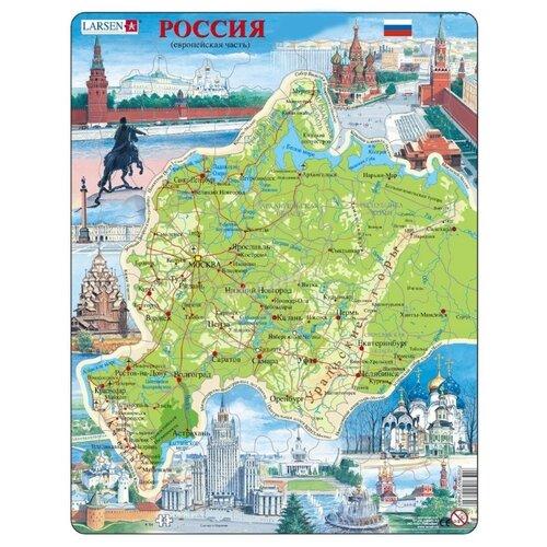 Рамка-вкладыш Larsen Западная Россия (K64), 81 дет., Пазлы  - купить со скидкой