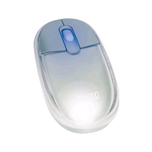 Мышь Sweex MI016 Optical Mouse Neon Silver USB + PS/2