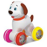 Каталка-игрушка Стеллар Собачка (01394) со звуковыми эффектами белый
