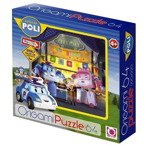Купить Пазл Origami Robocar Poli День рождения Джин (05904), 64 дет., Пазлы