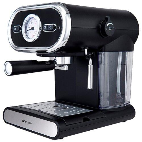 Кофеварка рожковая Kitfort KT-702 черный