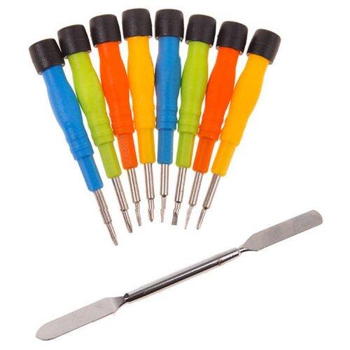 Набор инструментов для точных работ REXANT (9 предм.) 12-4765 желтый/голубой/зеленый/красный набор инструментов sata 53пр для электротехнических работ 09535
