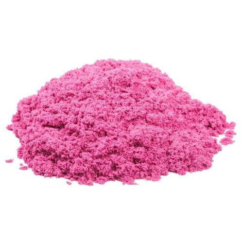 Купить Кинетический песок Космический песок базовый, розовый, 1 кг, пластиковый контейнер
