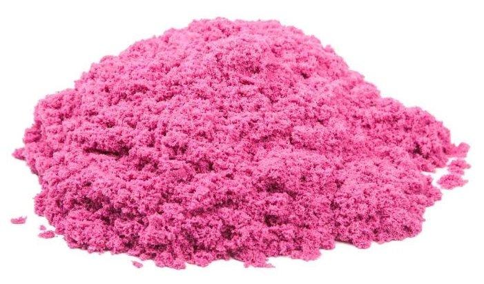 Кинетический песок Космический песок базовый розовый 2 кг пластиковый контейнер