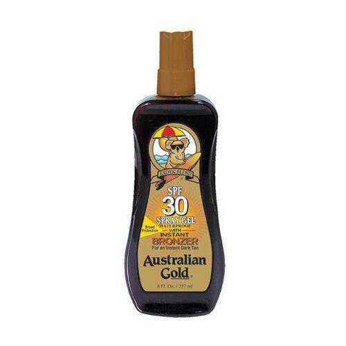 Australian Gold Спрей-гель с бронзатором SPF 30 237 мл