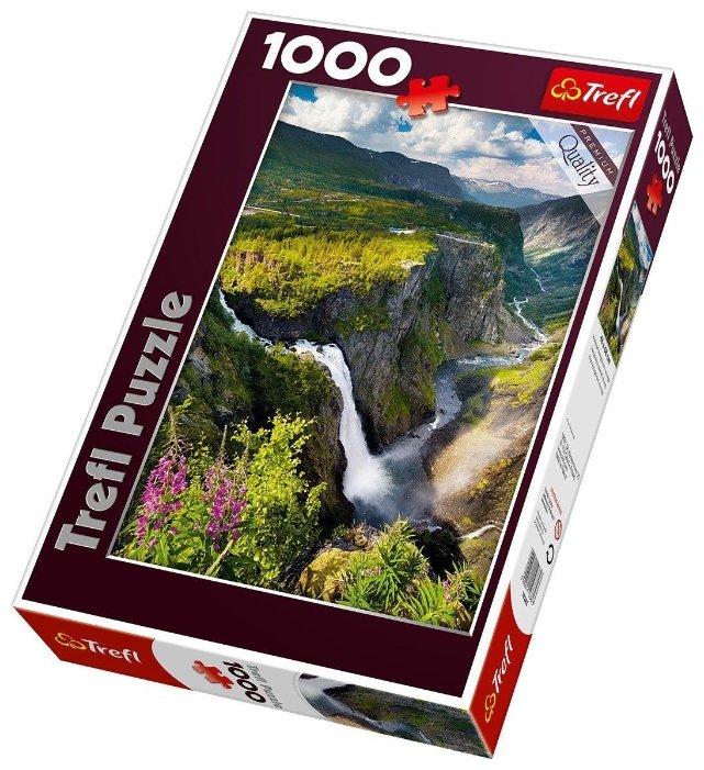 Пазл Trefl Водопад Верингсфоссен в Норвегии (10382), 1000 дет.