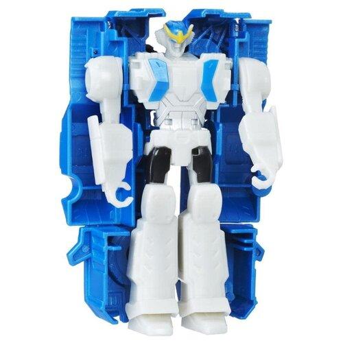 Купить Трансформер Hasbro Transformers Стронгарм. Уан-Стэп (Роботы под прикрытием) C2338 синий/белый, Роботы и трансформеры