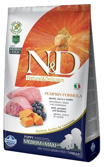 Корм для собак Farmina N&D Grain-Free Canine Pumpkin Lamb & Blueberry Puppy Medium & Maxi