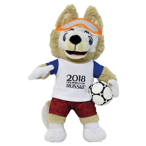 Мягкая игрушка 1 TOY FIFA-2018 Волк Забивака 24 см fifa 2018 мяч сувенирный забивака разноцветный
