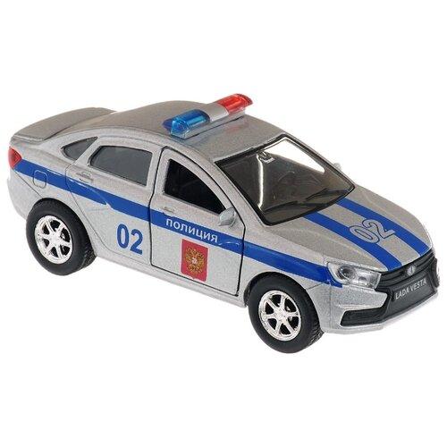 Легковой автомобиль ТЕХНОПАРК Lada Vesta Полиция (SB-16-40-P) 12 см серебристый, Машинки и техника  - купить со скидкой