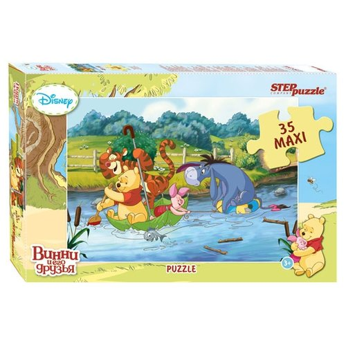 Фото - Пазл Step puzzle Disney Медвежонок Винни (91209), 35 дет. комп белья disney медвежонок винни 3 пред желтый polini