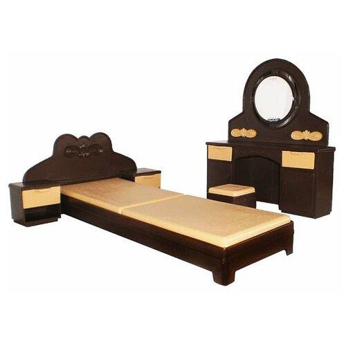 ОГОНЁК Набор мебели для спальни Коллекция (С-1303) коричневый/бежевый
