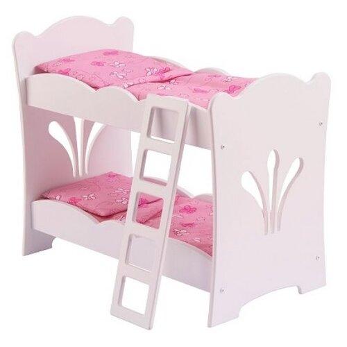 KidKraft Двухэтажная кроватка с бельем (60130) белый