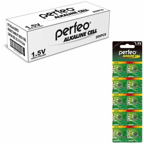 Фото - Батарейка Perfeo LR521/10BL Alkaline Cell 379A AG0, 200шт батарейка aa щелочная perfeo lr6 10bl super alkaline 10 шт
