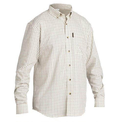 Рубашка муж. для охоты с длинными рукавами 100 бежевая, размер: L, цвет: Беж SOLOGNAC Х Декатлон