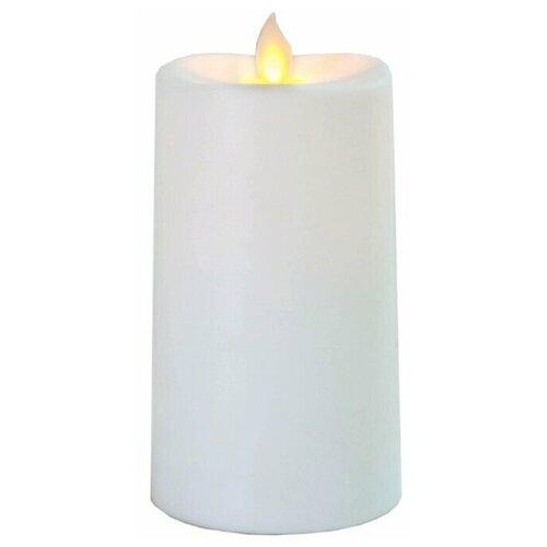 свеча светодиодная пластиковая с эффектом мерцающего пламени высота 8 5 см цвет бежевый 063 88 Свеча светодиодная пластиковая с эффектом мерцающего пламени, высота - 13,5 см, цвет - белый, 063-87