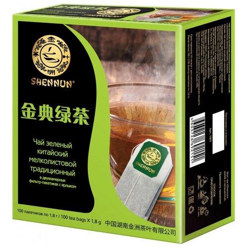 Чай Shennun зеленый традиционный, 100пак. 1901 2 шт.